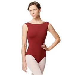 Adult Microfiber Low Back Tank Leotard Katia