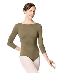 Adult Microfiber Low Back Long Sleeve Leotard Nanette