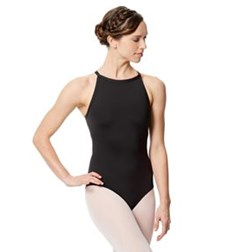 Adult Microfiber Strappy Back Halter Neck Leotard Taliana