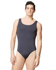 Mens Microfiber Scoop Neckline Tank Leotard Tayelor