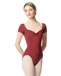 Short Sleeves Leotard Gathered Front Anfisa