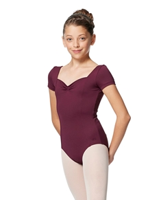 Girls Short Sleeves Ballet Leotard Anfisa