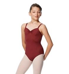 Girls Open Back Pinch Front Camisole Ballet Leotard Darya