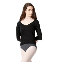 Knit Long Sleeve Dance Warm Up Sweater