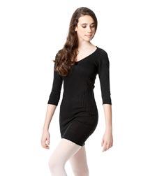Knit Dance Warm Up Long Sleeve Tunic