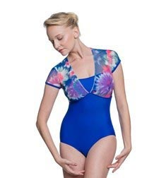 Adult Short Sleeve Printed Mesh Leotard Juliette