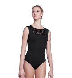 Adult High Neck Open Back Lace Leotard Rebecca