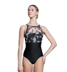 Adult Printed Mesh Camisole Leotard Sweetheart