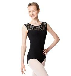 Women Cap Sleeve Lace Back Leotard Gillian