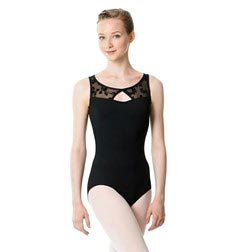 Women Boat Neck Flocked Mesh Leotard Imogen