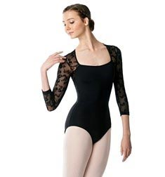 Adult Long Sleeve Flocked Mesh Leotard Albertine