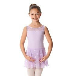 Girls Skirted Mesh Leotard Rosalie