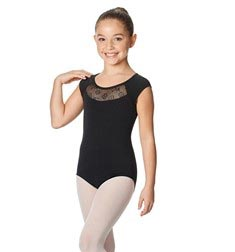 Girls Cap Sleeve Mesh Back Leotard Harriet