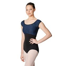 Women Cap Sleeve Strappy Back Leotard Cecily