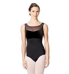 Girls Microfiber Tank Dance Leotard Oxana