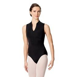 Womens Halter Zip Front Dance Leotard Ximena