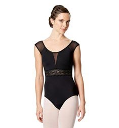 Womens Cap Sleeve Dance Leotard Amalia
