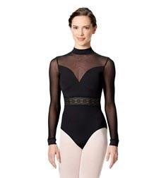 Womens Long Sleeve Performance Dance Leotard Gabriela