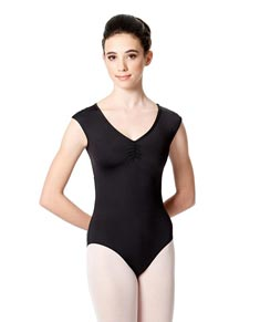 Girls Mesh Cap Sleeves Dance Leotard Annalisa