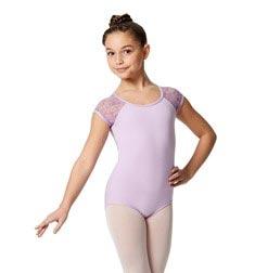 Girls Cap Sleeve Lace Dance Leotard Amita