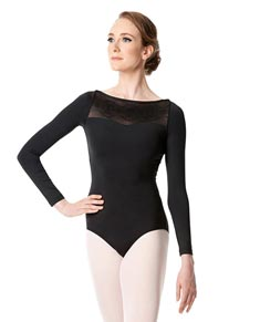 Womens Long Sleeve Mesh Dance Leotard Isidora