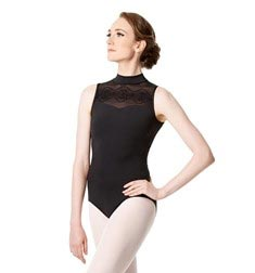 Womens Mock Neck Mesh Leotard Marissa