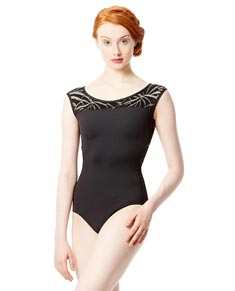 Child Cap Sleeve Microfiber Mesh Ballet Leotard Aitana