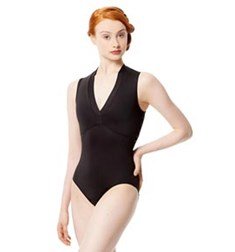 Adult Microfiber Mesh High Neck Ballet Leotard Fernanda