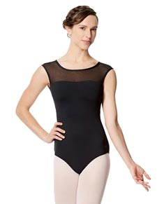 Adult Microfiber Cap Sleeve Fashion Leotard Marcela