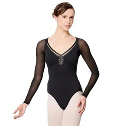 Adult Microfiber Long Sleeve Fashion Leotard Viviane