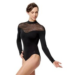 Adult Microfiber Mock Turtleneck Leotard Carol