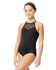 Child Microfiber Halter Neck Leotard Agnese