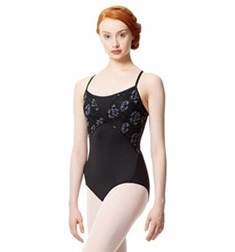 Adult Microfiber and Lace Camisole Leotard Dita
