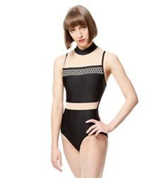 Adult Embroidered Microfiber Leotard Lia