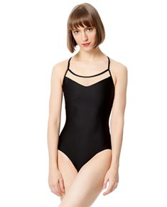 Adult Embroidered Microfiber Camisole Leotard Patricia