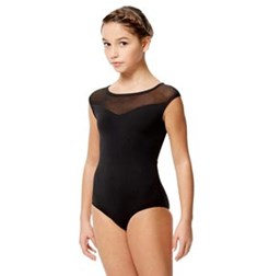 Child Microfiber and Mesh  Cap Sleeve Leotard Priscila