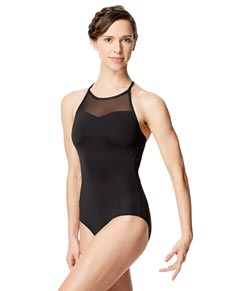Adult Microfiber and Mesh Camisole Leotard Senna