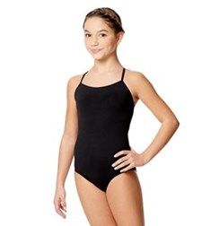 Child Microfiber & Lace Racerback Leotard Yoana