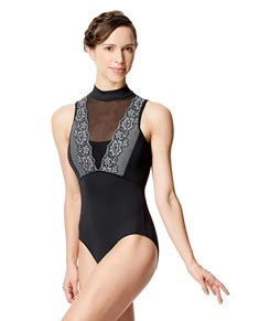 Adult Microfiber Mesh & Lace Mock Leotard Eloa