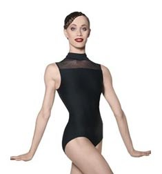 Womens Mock Neck Ballet Leotard LYS