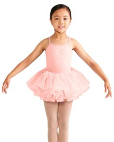 Childs Camisole Skirted Tutu Dress with Front Applique