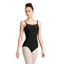Womens Camisole Wave Mesh Dance Leotard