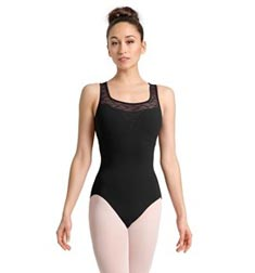 Womens Floral Mesh Cap Sleeve Dance Leotard