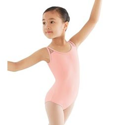 Childs Open Mesh Back Tank Ballet Leotard
