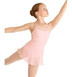 Childs Glitter Skirted Camisole Ballet Leotard