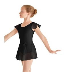 Childs Skirted Flutter Sleeve Ballet Leotard