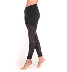 Adults Mesh and Shiny Insets Supplex Long Leggings