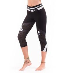 Adults Supplex Capri with Shiny Marble Print