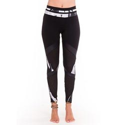 Womens High-Waist Supplex Long Leggings with Inserts