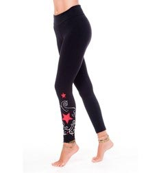Adults Embroidery Stars Long Supplex Leggings